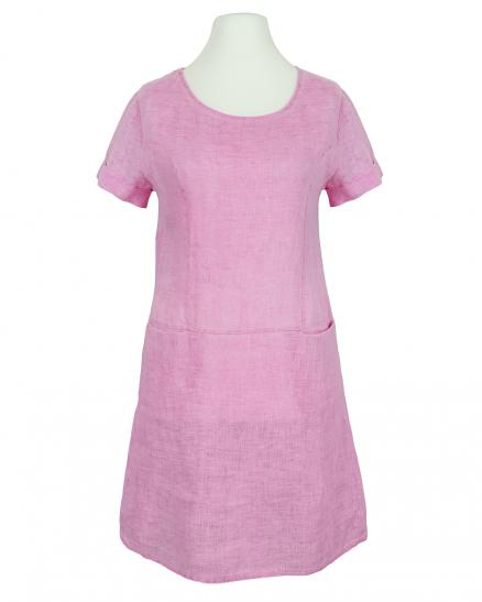 Leinenkleid Washed Look, pink