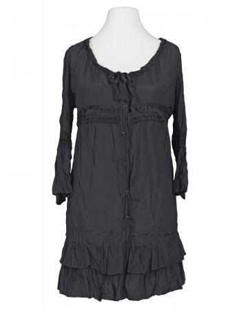 Long Bluse mit Seide, schwarz (Bild 1)