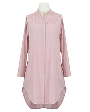 Long Bluse Stehkragen, rosa
