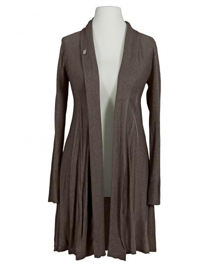 Long Strickjacke A Schnitt, schlamm