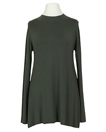 Long Pullover Feinstrick, oliv
