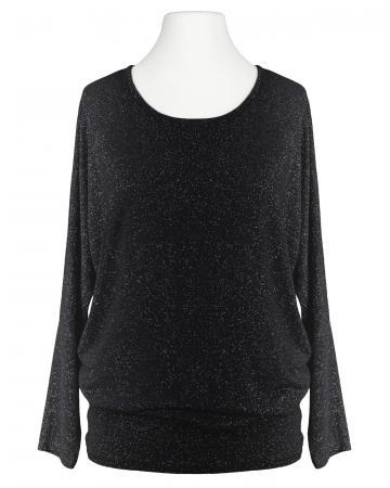 Long Shirt Lurex, schwarz