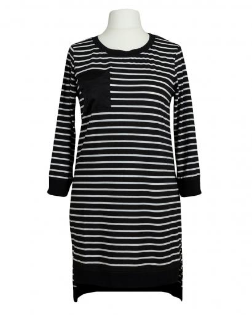 Long Shirt Streifen, schwarz (Bild 1)
