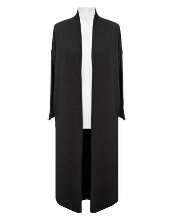 Long Strickhülle, schwarz
