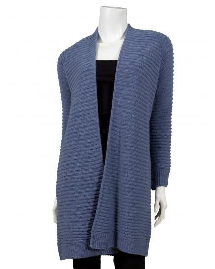 Long Strickjacke, blau