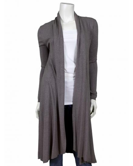 Long Strickjacke, braun