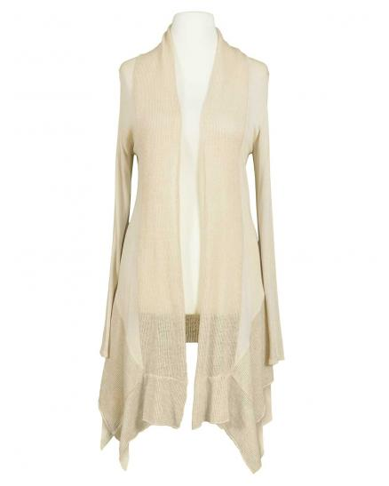 Long Strickjacke, creme (Bild 1)