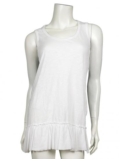 Damen Long Top, weiss