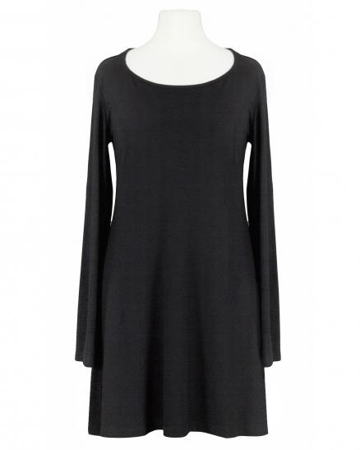 Longshirt A-Linie, schwarz