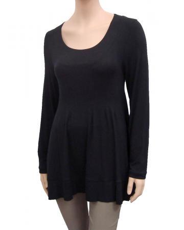 Longshirt Tunika, schwarz (Bild 1)