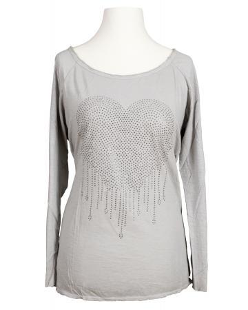 Shirt Herz, hellgrau (Bild 1)