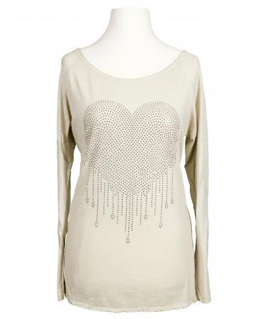 Shirt Herz, beige