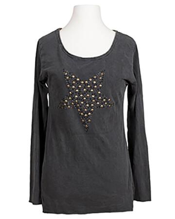 Longsleeve Shirt mit Stern, grau