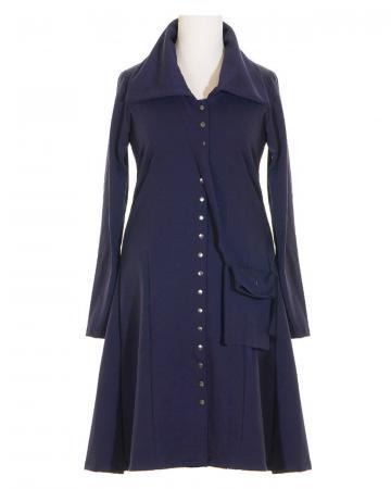 Jerseykleid mit Tasche gefüttert, blau