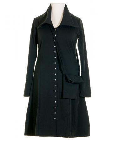 Jerseykleid mit Tasche gefüttert, schwarz