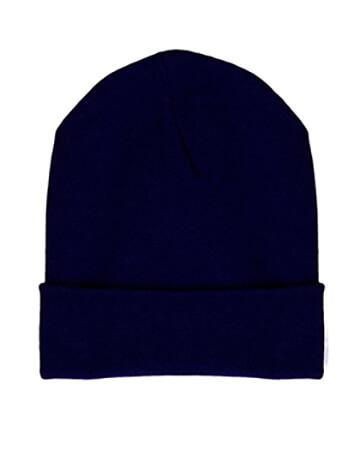 Mütze mit Cashmere, dunkelblau