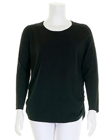 Pullover mit Kaschmir, schwarz (Bild 1)