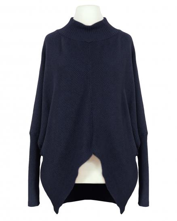 Pullover Ballonschnitt, blau