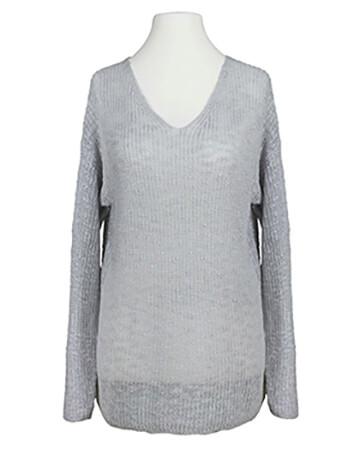 Pullover Bouclegarn, grau