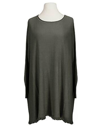 Pullover Fransen, oliv (Bild 1)