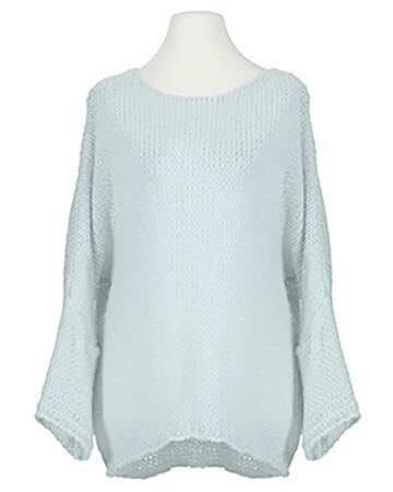 Pullover Grobstrick, eisblau