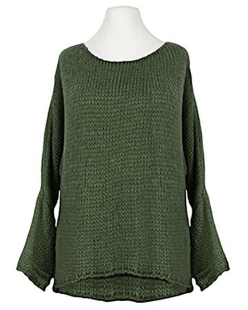 Pullover Grobstrick, oliv