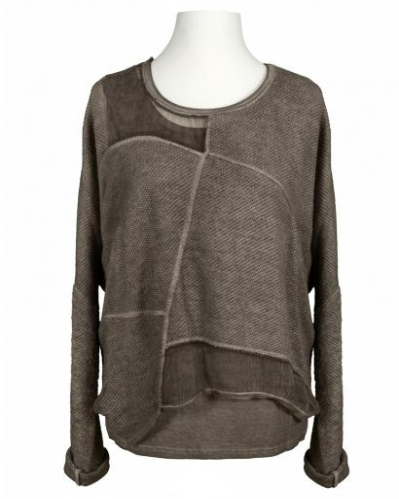 Pullover mit Chiffon 2-tlg., schlamm (Bild 1)