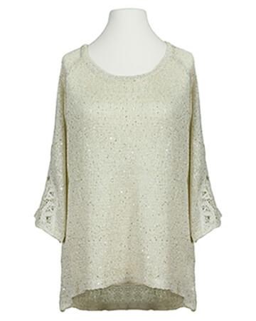 Pullover mit Pailletten, creme (Bild 1)