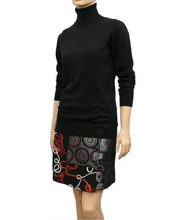 Pullover mit Rollkragen, schwarz