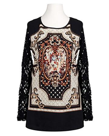 Pullover mit Spitze, schwarz (Bild 1)