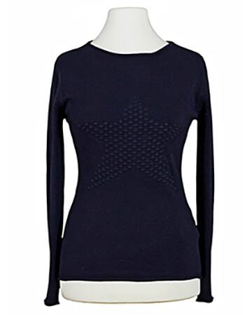 Pullover mit Stern, blau