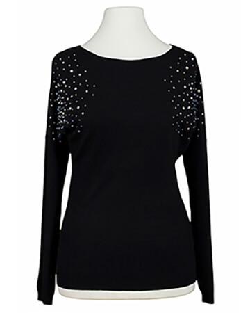 Pullover mit Strass, schwarz (Bild 1)