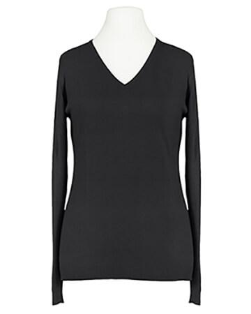 Pullover mit V-Ausschnitt, schwarz (Bild 1)