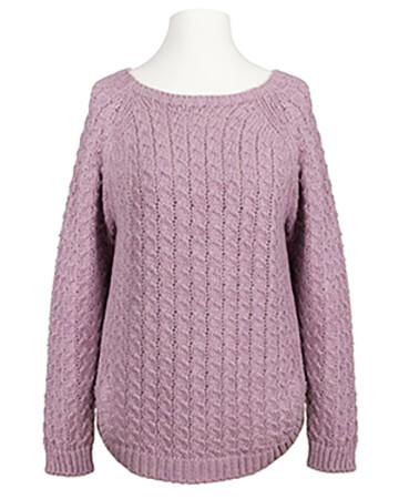 Pullover Zopfmuster, rosa