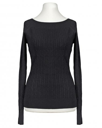 Pullover mit Zopfmuster, schwarz (Bild 1)