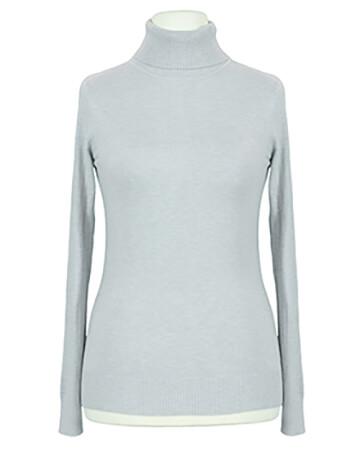 Pullover Rollkragen, grau