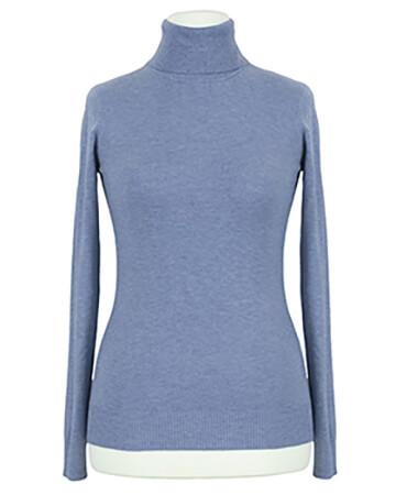 Pullover Rollkragen, jeansblau