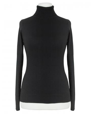 Pullover Rollkragen, schwarz