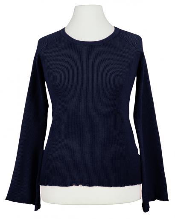 Pullover Rippstrick, blau