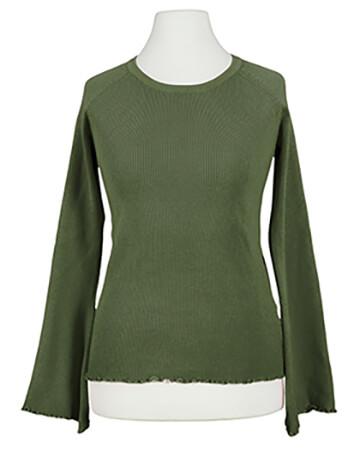 Pullover Rippstrick, khaki