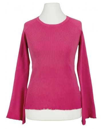Pullover Rüschen, pink