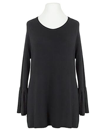 Pullover Trompetenarm, schwarz