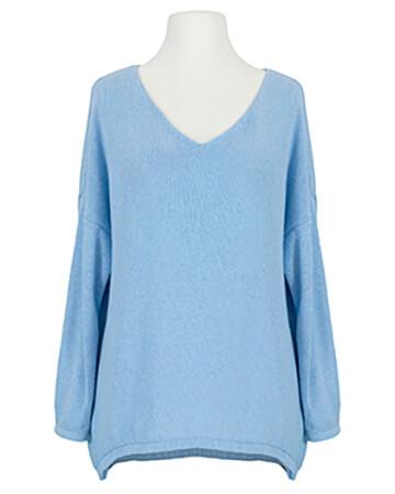 Pullover V-Ausschnitt, blau