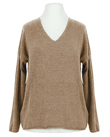 Pullover V-Ausschnitt, camel