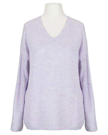 Pullover V-Ausschnitt, flieder