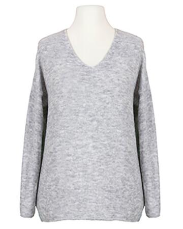 Pullover V-Ausschnitt, grau