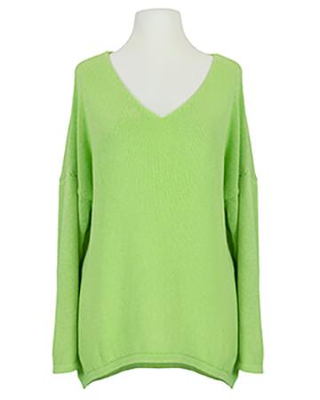 Pullover V-Ausschnitt, grün (Bild 1)