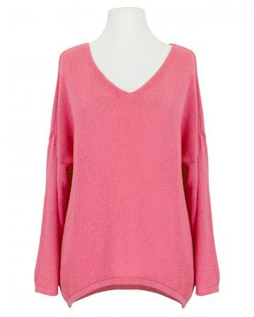 Pullover V-Ausschnitt, koralle