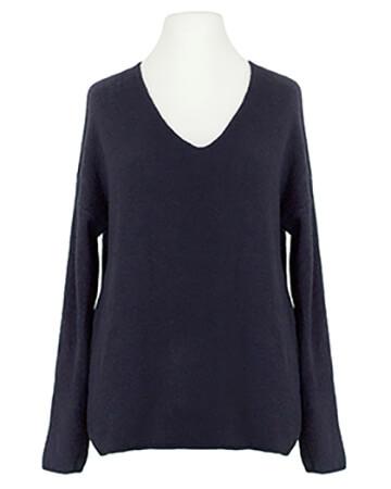 Pullover V-Ausschnitt, marine