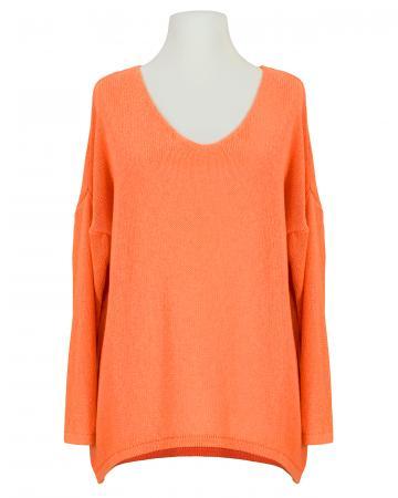 Pullover V-Ausschnitt, orange